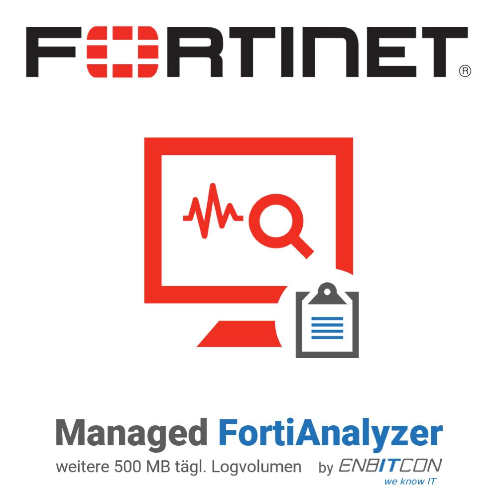 Managed FortiAnalyzer by EnBITCon - Zusatzvolumen
