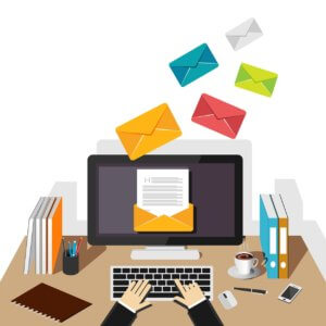 E-Mails werden an PC gesendet
