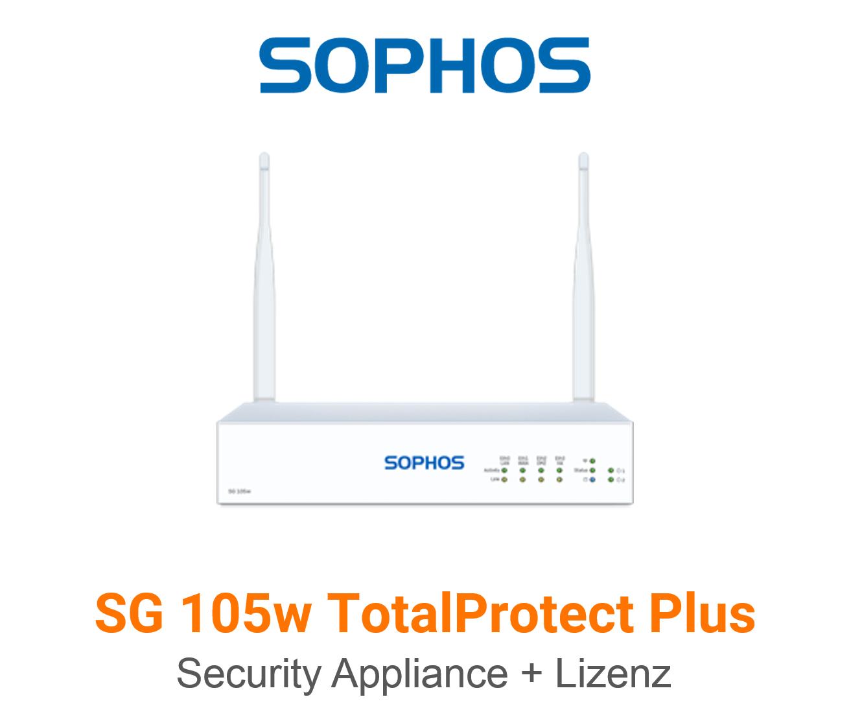 Sophos SG 105w TotalProtect Plus Bundle (Hardware + Lizenz)