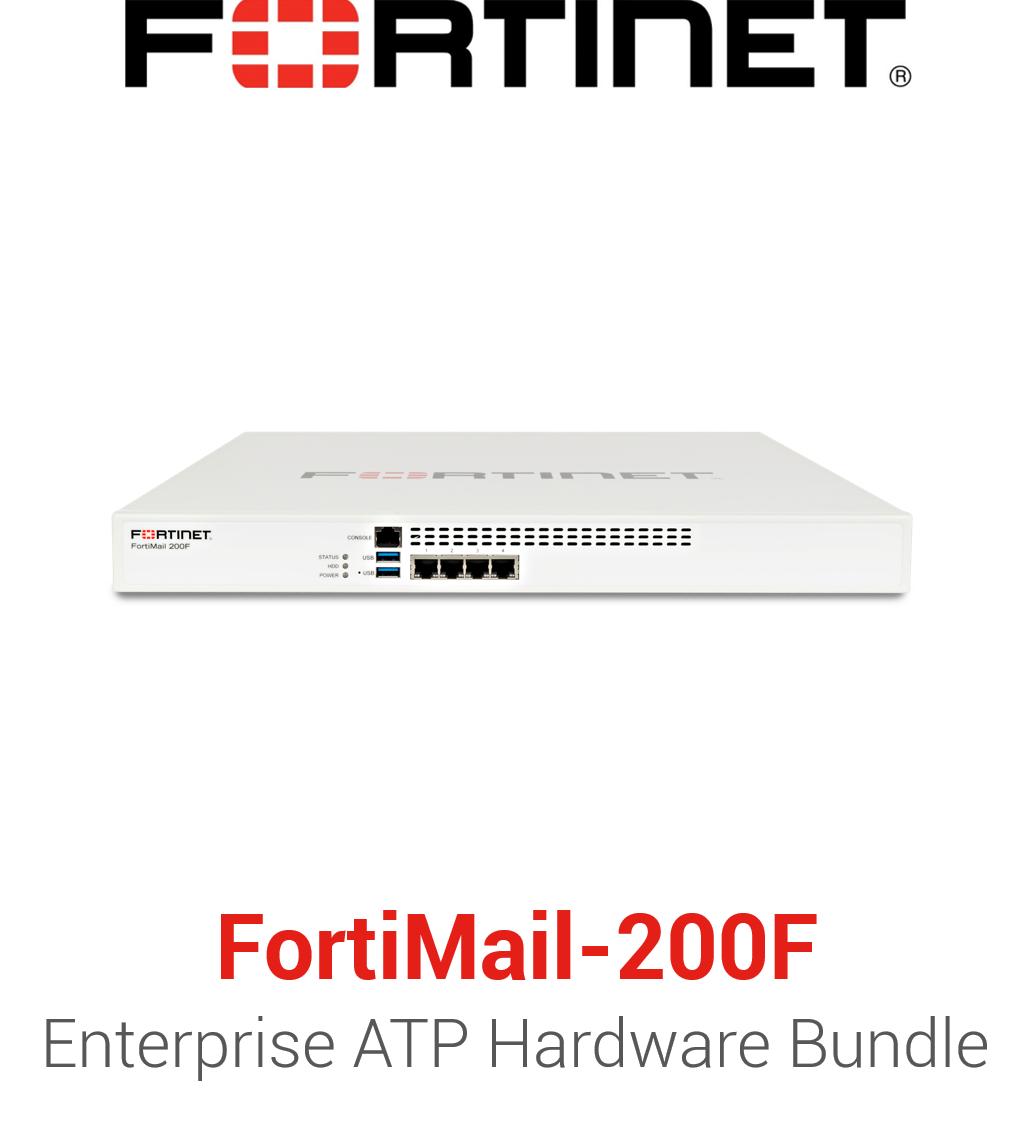 Fortinet FortiMail-200F - Enterprise Bundle (Hardware + Lizenz)