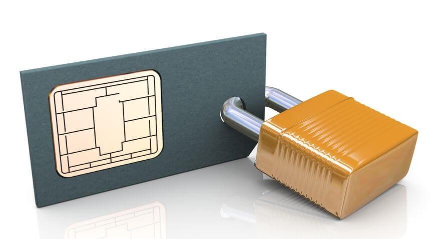 Verschlüsselte Chipkarte mit Schloss